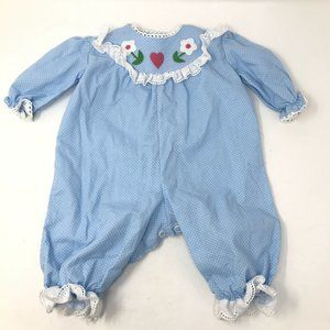 Vintage Baby Girl 80s 90s Classic Bubble Romper